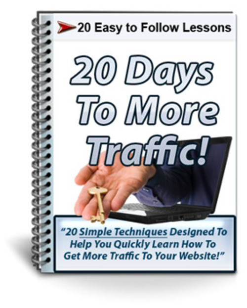 Product picture 20 Days to More Traffic Autoresponder Messages PLR